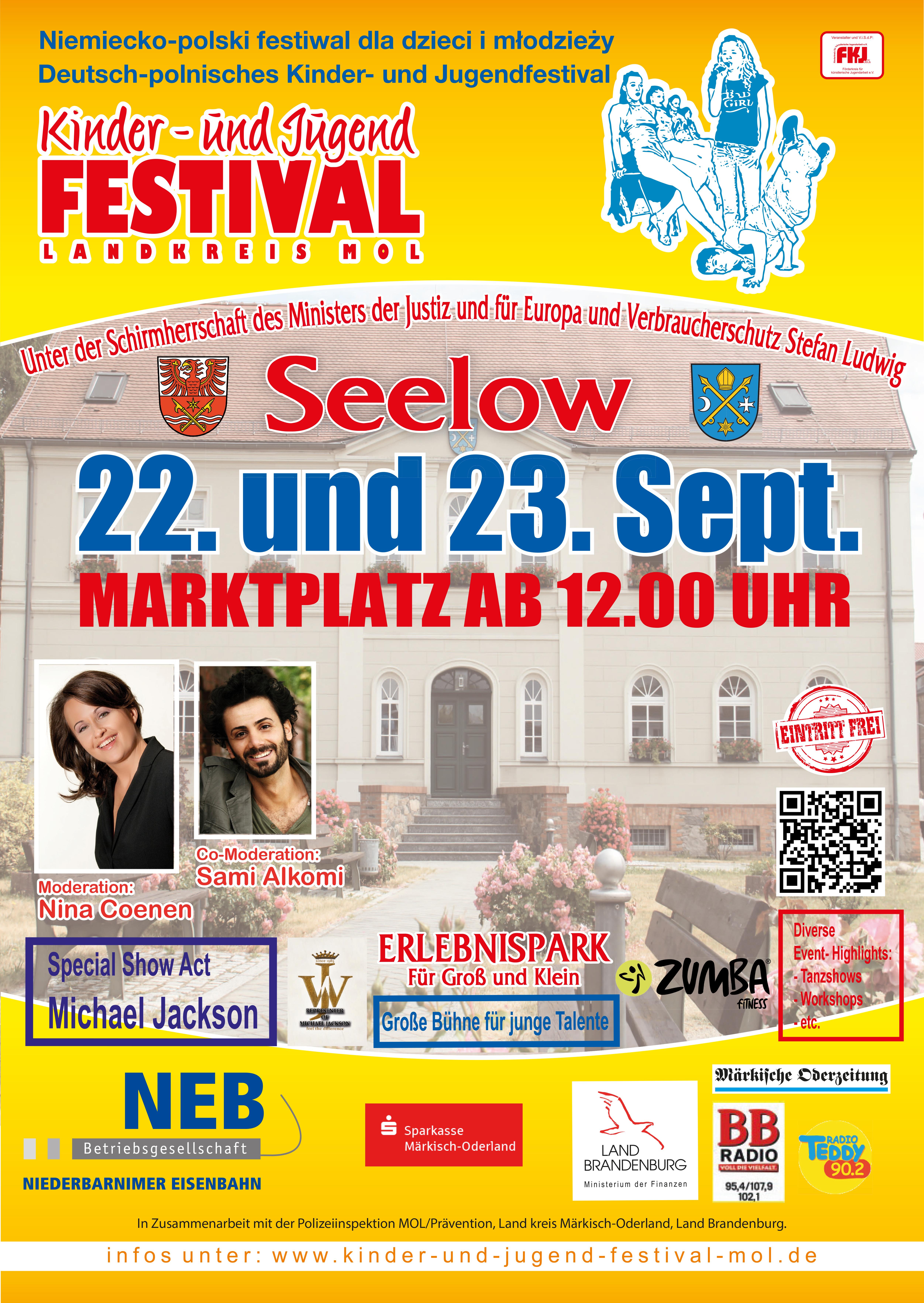 Plakat Deutsch-Polnisches Kinder- und Jugendfestival 2018
